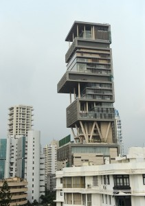 The twenty-seven storey Antilia, the new