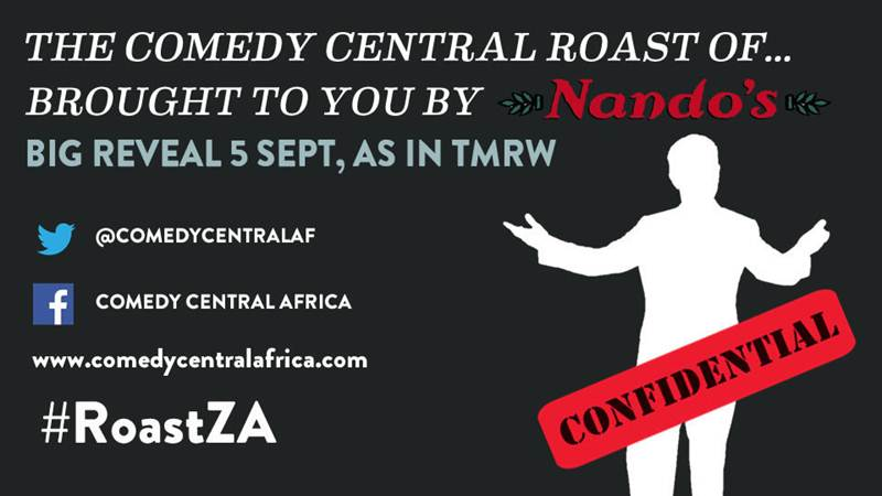 COMEDY CENTRAL ROASTEE TO BE REVEALED TMW